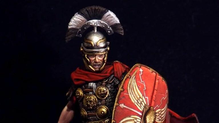 Ilustración de un oficial romano. Los oficiales romanos.