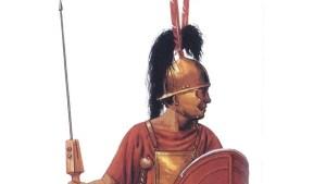 Perfil de un hastati romano.