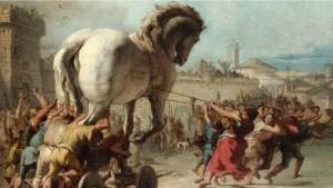 Caballo de Troya, pintura inspirada en la obra de Virgilio.