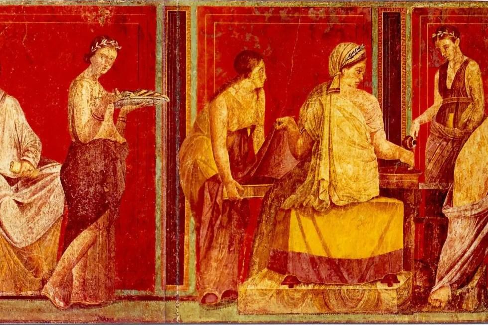 La siguiente imagen es una fotografía de la megalografía de los Ritos Misterii.