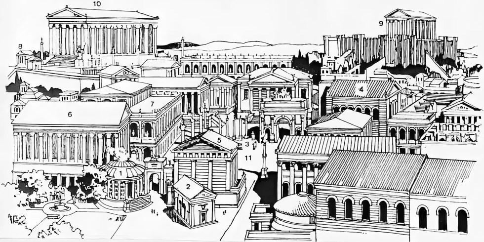 Templos romanos en el Capitolino durante el Imperio romano