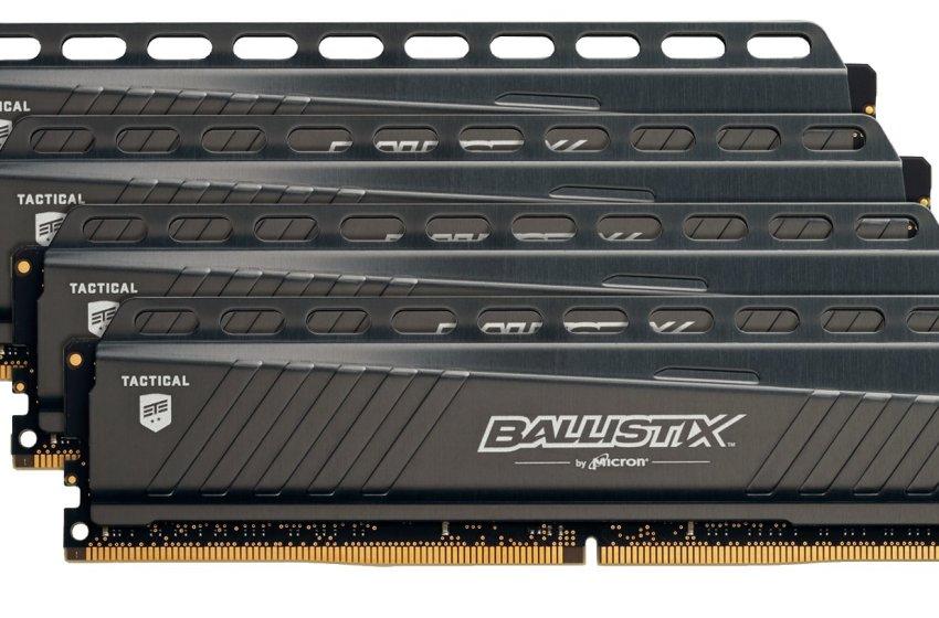 Ballistix Tactical DIMM da 288 Pin Memory – blt4g4d26afta 16GB Kit (4GBx4)