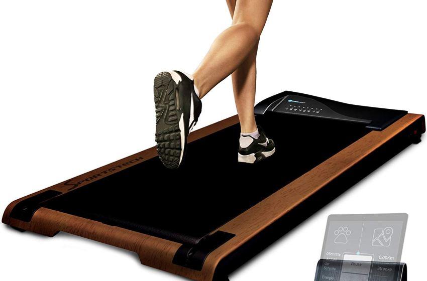Sportstech Tapis Roulant Scrivania dft200 DeskFIT con App, Telecomando, Supporto Tablet I Tapis Roulant Bluetooth per Casa e Ufficio I Tapis Roulant Elettrico Professionale Pedana Elettrica