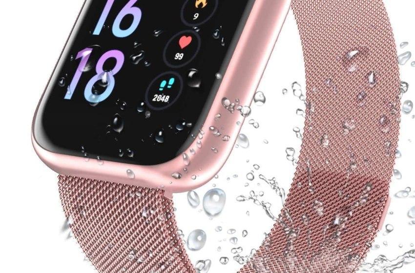 Cardiofrequenzimetro, Smart Watch IP68 Waterproof Watch Fitness Tracker e contatore del sonno con 2 cinturini intercambiabili per uomo e donna