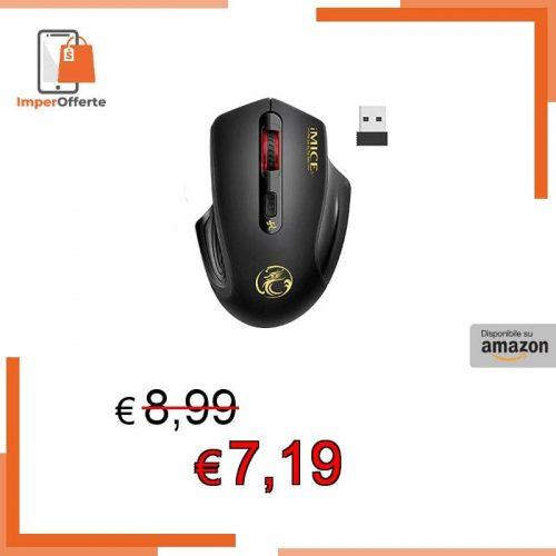 iAmotus Mouse Wireless, Mouse Senza Fili 2,4G Portatile USB Mouse Ergonomico 3 Livelli DPI Regolabile Mouse Senza Fili Silenziosi, Compatibile con Laptop, PC, Computer, Notebook, Deskbtop