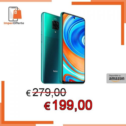 Xiaomi Redmi Note 9 Pro Smartphone – 6.67″ DotDisplay 6GB 128GB 64MP AI Quad Camera 5020mAh (typ)* NFC Tropical green [Versione globale]
