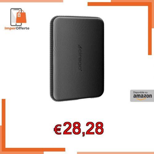 Hard Disk Esterno Portatile Antiurto CIRAGO 250GB , USB3.0, 2.5-inch, HDD Storage per PC, Mac, Desktop, Laptop, MacBook, Chromebook