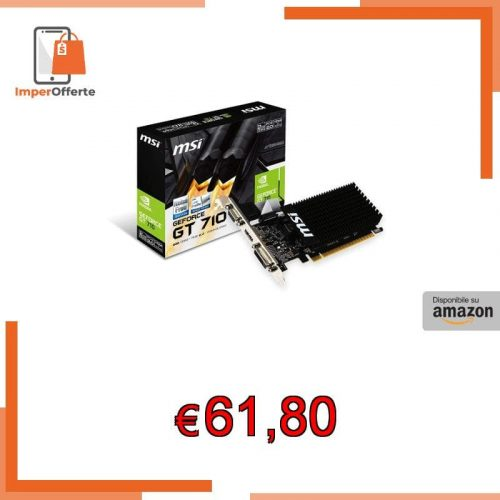 Msi GeForce GT710 2GD3H LP Scheda Grafica, 2 GB GDDR3