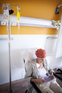 Cancer Patient Experiencing Nausea After Chemotherapy
