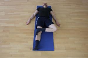 Test auf Einschränkung der externen Rotation der Hüfte