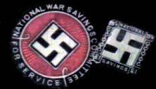During World War 1, the swastika was used on the emblems of the British National War Savings Committee.