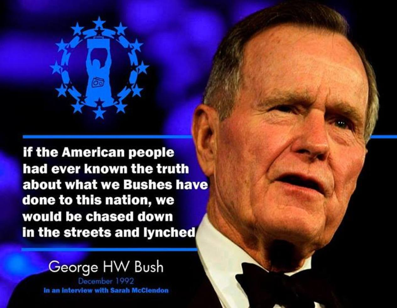 Prescott Bush (father of HW/grandfather of W), along with Federal Reserve founders Paul Warburg and John D. Rockefeller, laundered money to Hitler, before and during his rise to power. Bush was the only one to have his company seized under the Trading with the Enemy Act. The Bushes, Warburgs, and Rockefellers are part of the root of the two party stranglehold. Abby Martin did a segment on American corporations that funded the Nazis: http://www.youtube.com/watch?v=RXh7HfEFhik