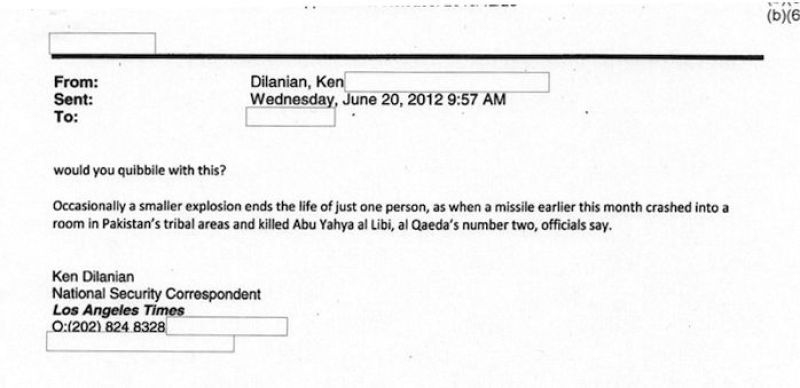 "Los Angeles Times reporter clearing stories with the CIA: ""Would you quibble with this?"""