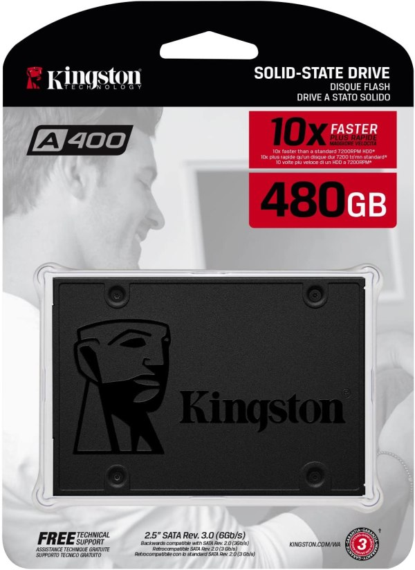 Kingston SA400S37480G - Disco duro interno de 480 GB A400 SATA 3 2.5