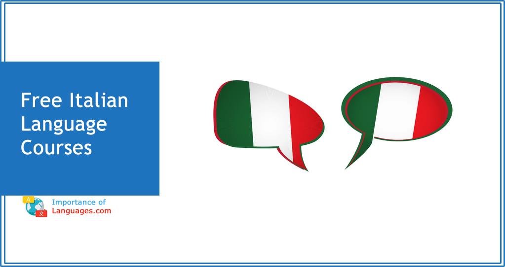 Free italian Language courses