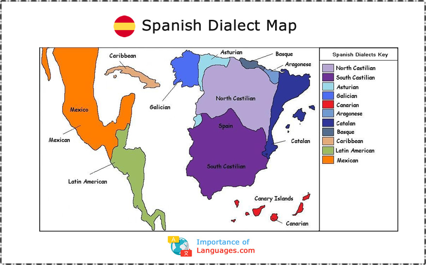 Spanish Dialect Map