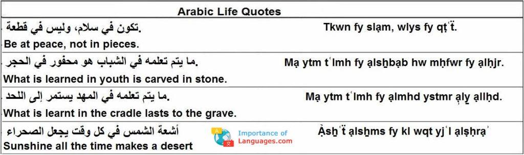 arabic life quotes