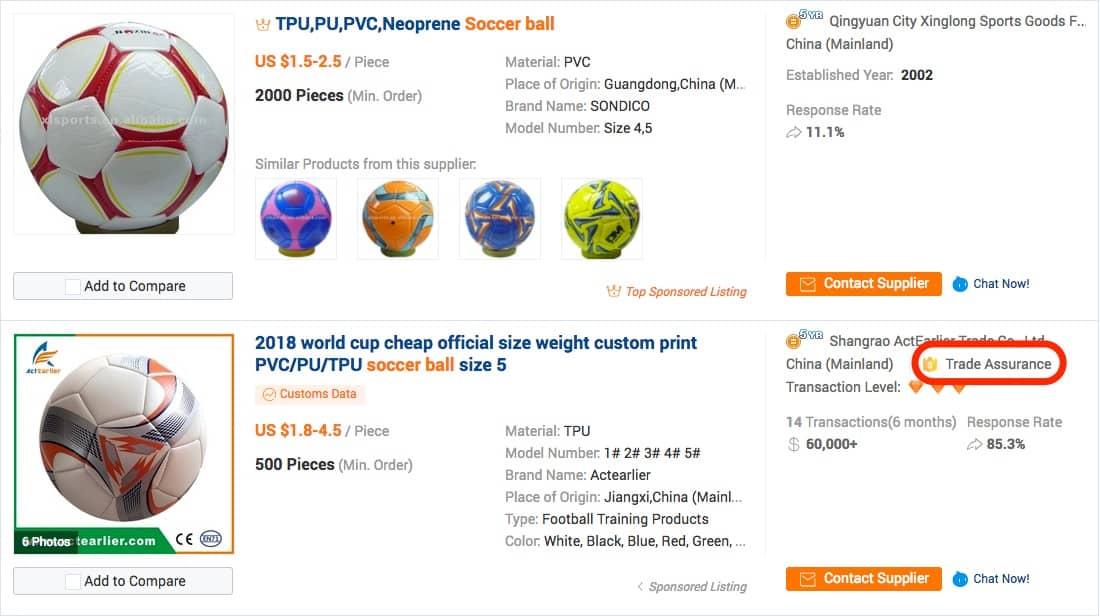 Utilizar Trade Assurance en Alibaba