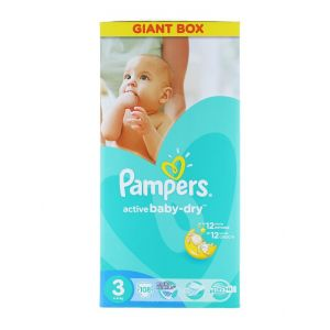 Pampers Active Baby Dry nr.3 5-9 kg 108 buc Giant Box