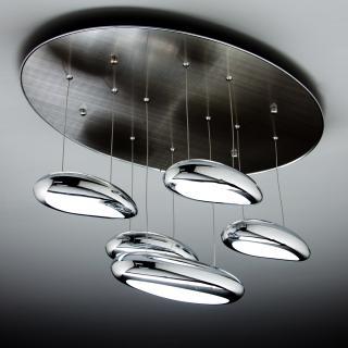 Lampade da terra, lampadari moderni con paralume in gabbia. Lampadari Moderni A Led Di Design Per Il Tuo Soggiorno