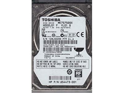 750GB SATA toshiba 25