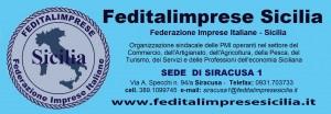 Feditalimprese Sicilia - sede SIRACUSA STRISCIONE