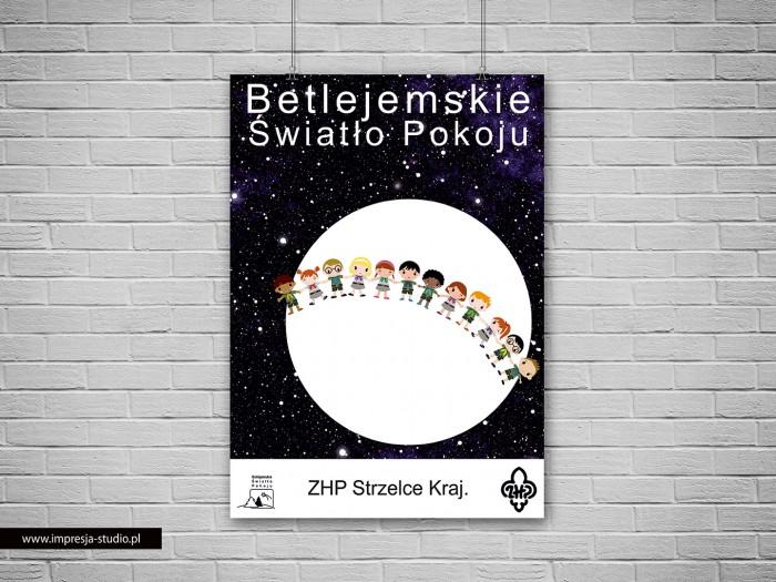 Plakat Betlejemskie Światło Pokoju