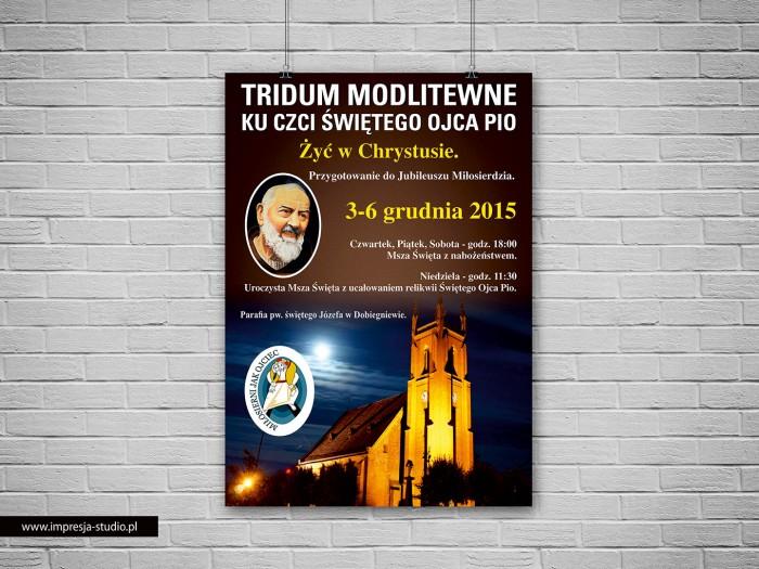 Plakat Tridum Modlitewne Ku Czci Świętego Ojca Pio