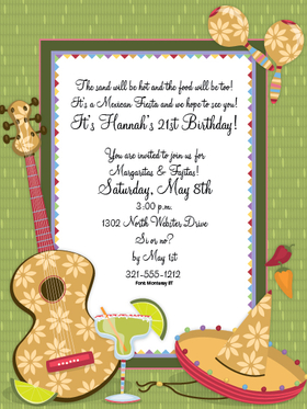 Invitations FIESTA Invitations Margarita Fiesta Digital