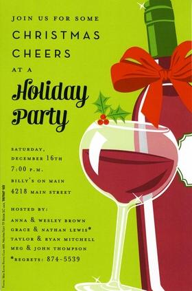 Holiday Amp Seasonal CHRISTMAS Invitations Cocktail Food Tea Jolly Wine