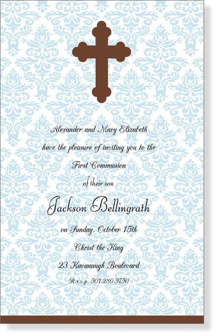 Baptism Invitations Twins