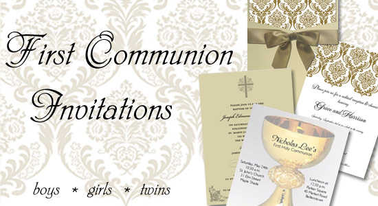 First Holy Communion Invitations Invitation Cards Wordings