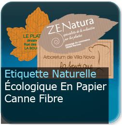 Autocollant papier naturel écologique forme feuille d'arbre ou rectangle devis en ligne sur notre site.