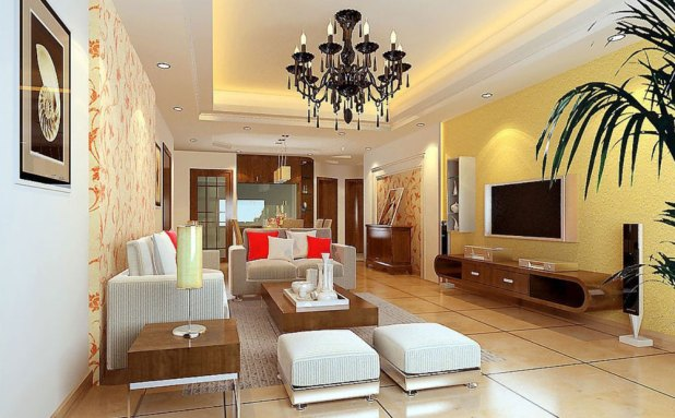 Interior design yellow walls living room for Want to decorate my living room