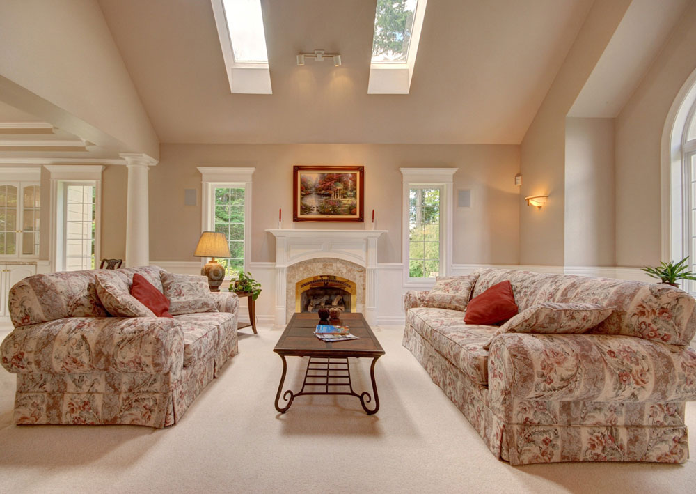 Vaulted Ceiling Living Room Design Ideas Part 41