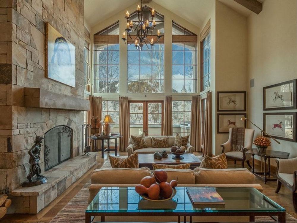Vaulted Ceiling Living Room Design Ideas 3
