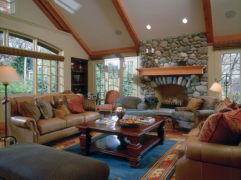 Vaulted Ceiling Living Room Design Ideas Part 48
