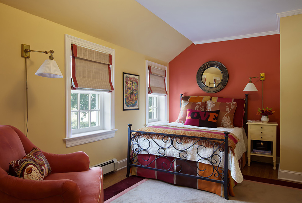 red bedroom ideas decor walls paint