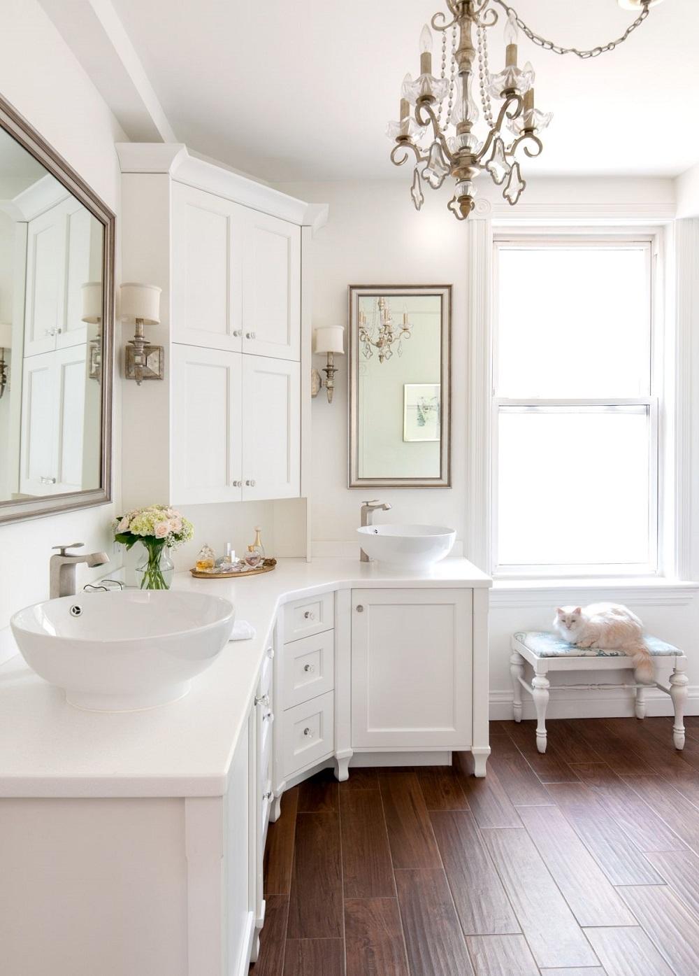 neat corner bathroom vanity ideas you