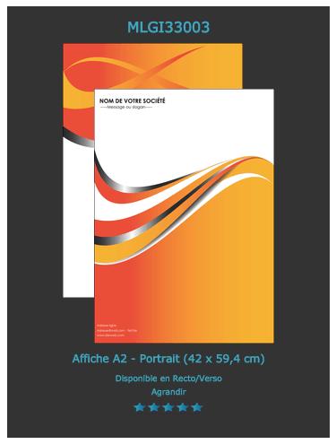 Extrêmement Affiche publicitaire A2 - Imprimerie Affiche SA96