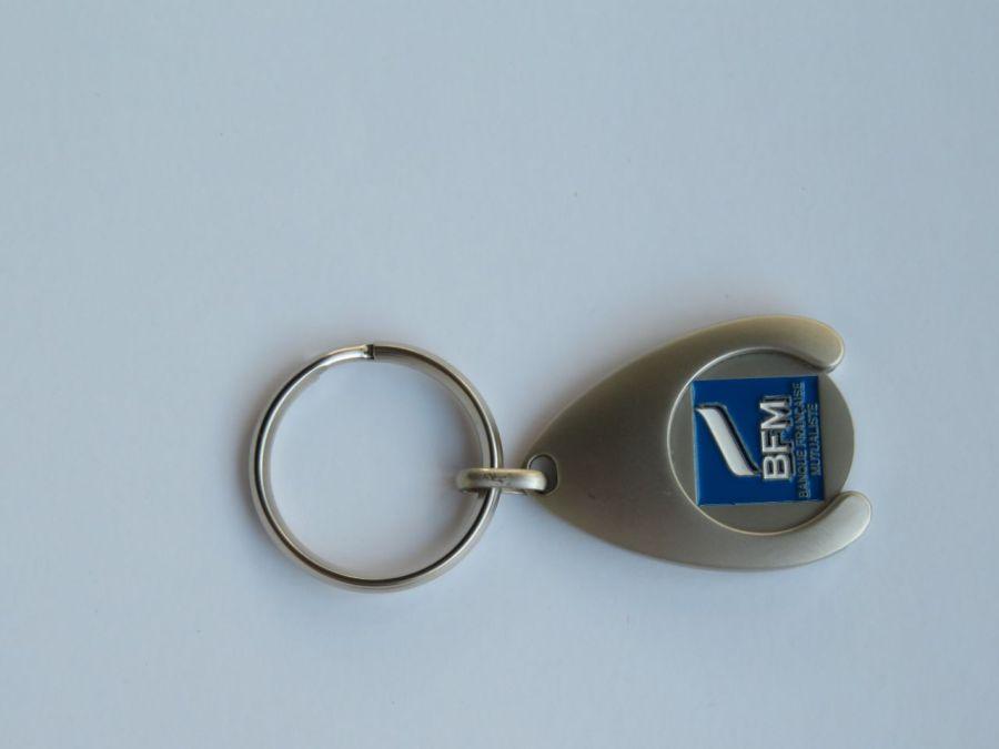 Porte clés rond en alliage à Narbonne avec jeton