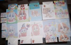 Cartas perfumadas antiguas infancia