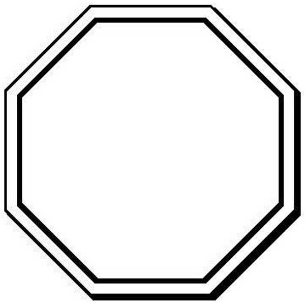 NoteKeeper (TM) - Stop sign shape flexible magnet, 1 3/4 ...