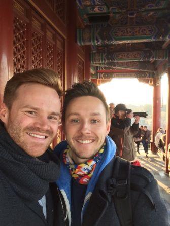 Lukas Maier und Tobias Neufeld in der Verbotenen Stadt