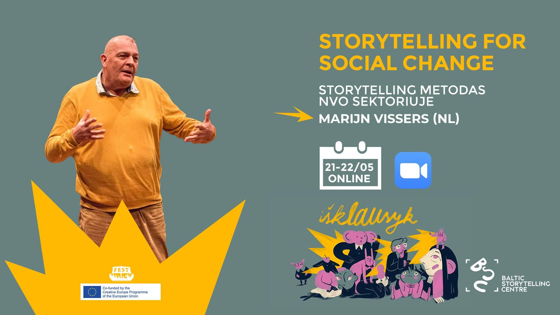 Storytelling & Improv for Social Change: online workshop