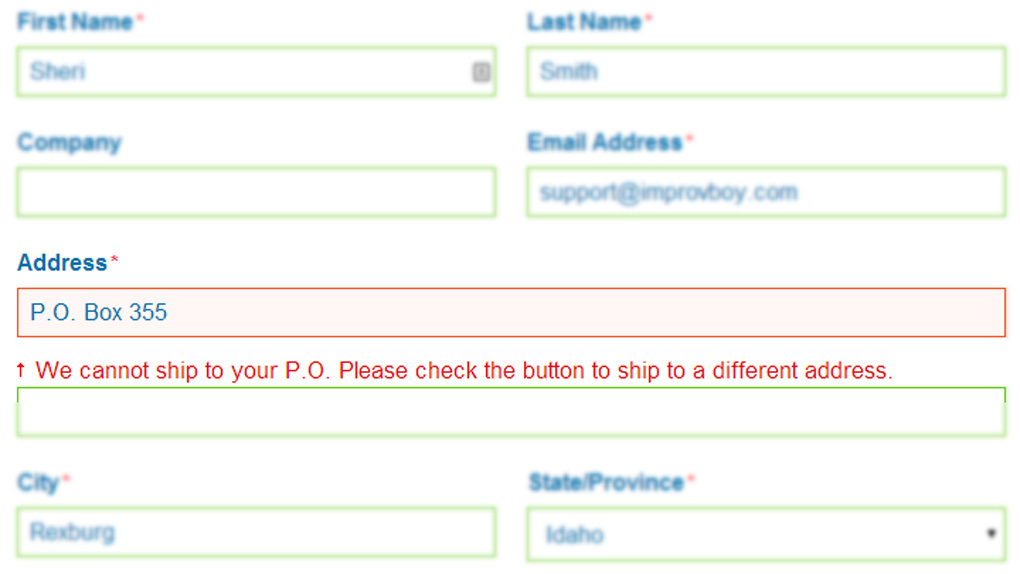 No PO Box for Shipping in Magento 1.9 Checkout