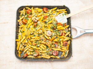 Creamy Spinach and Italian Sausage Pasta Recipe