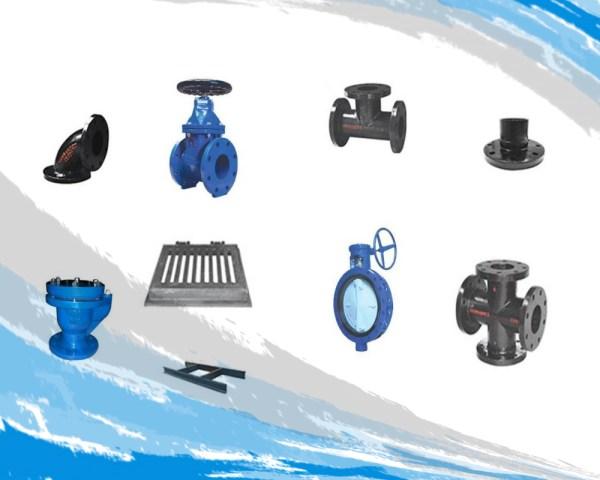 Conexión Fierro Fundido y Válvulas, de hierro dúctil, para agua potable