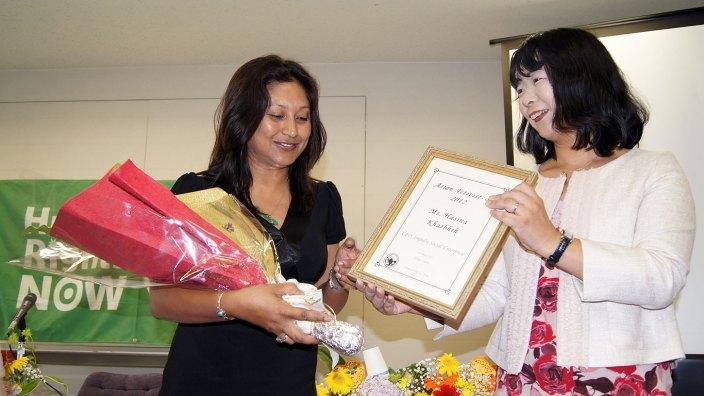 Hasina Kharbhih - Japan Social Activista Award 2012