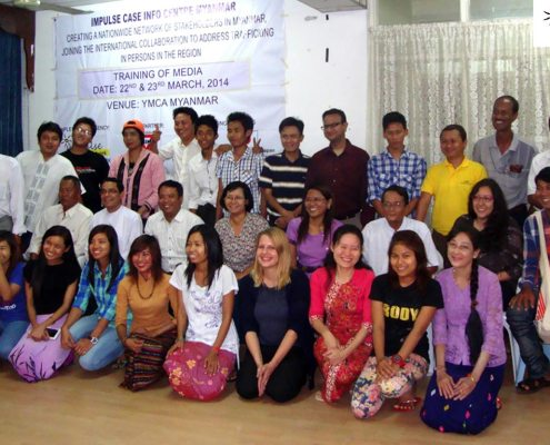 Impulse Model, Partnerships | Participants from the Media, at the Capacity Building Training conference, held in Yangon, Myanmar